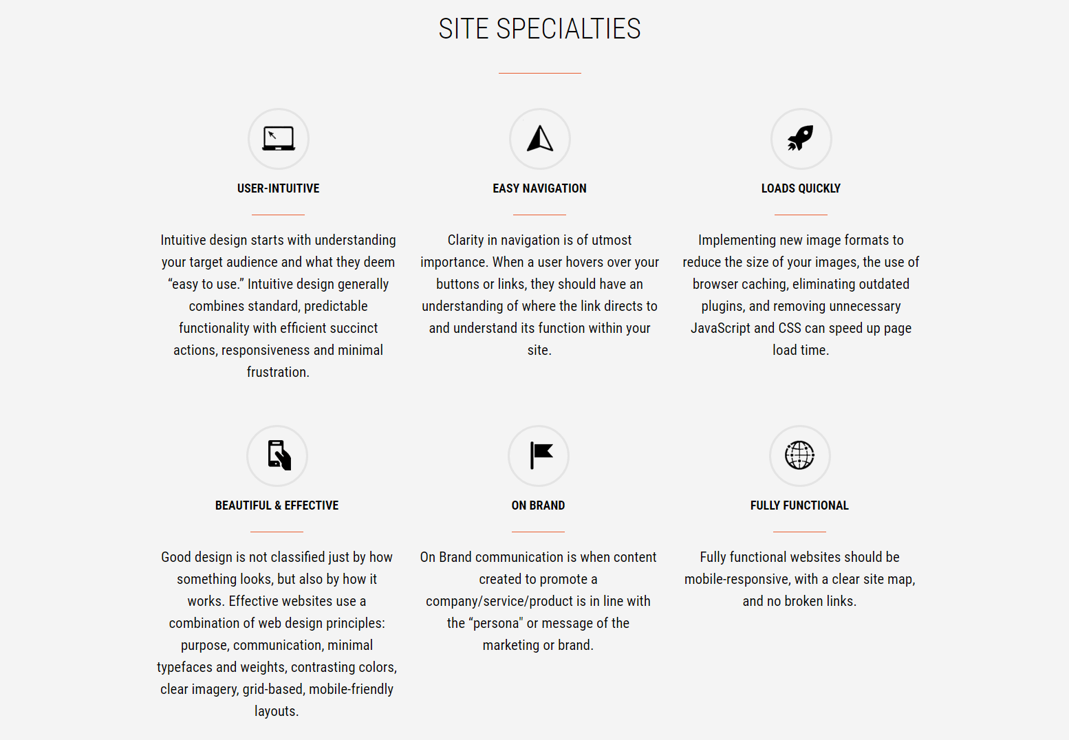 site specialties